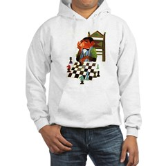Monkey Playing Chess Hoodie