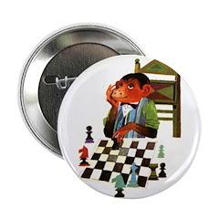 Monkey Playing Chess Button