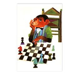Monkey Playing Chess Postcards (Package of 8)