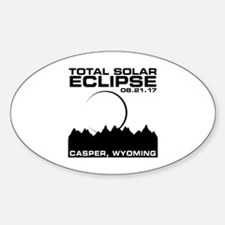 Cute Casper wyoming Sticker (Oval)