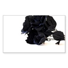 Black Roses on White Background Decal