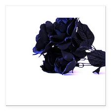 Black Roses with Violet Highlights Square Car Magn