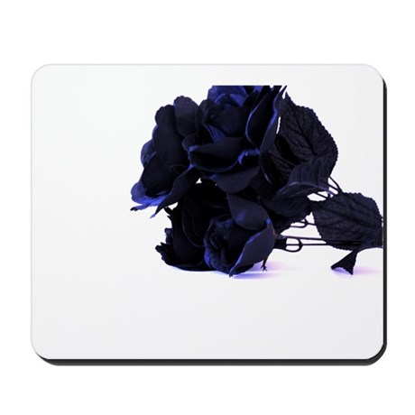 Black Roses with Violet Highlights Mousepad