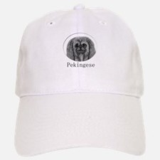Pekingese Ink Drawing Baseball Baseball Cap