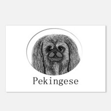 Pekingese Ink Drawing Postcards (Package of 8)