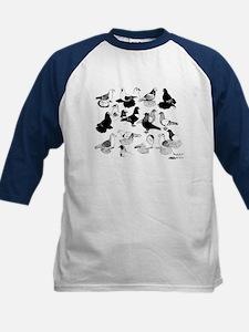 Saxon Color Pigeons Kids Baseball Jersey