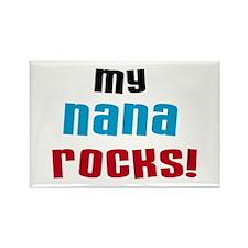 My Nana Rocks Rectangle Magnet