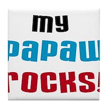 My Papaw Rocks Tile Coaster