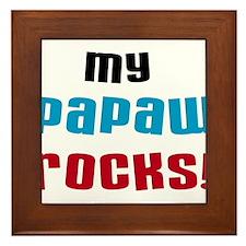My Papaw Rocks Framed Tile