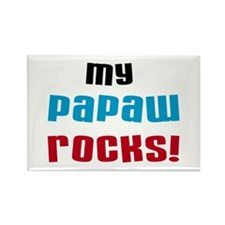 My Papaw Rocks Rectangle Magnet