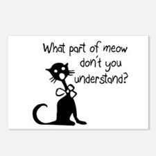 cat saying w/ attitude Postcards (Package of 8)