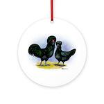 Crevecoeur Chickens Ornament (Round)
