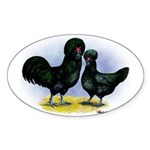 Crevecoeur Chickens Oval Sticker
