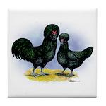 Crevecoeur Chickens Tile Coaster