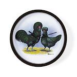 Crevecoeur Chickens Wall Clock