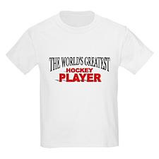"""The World's Greatest Hockey Player"" Kids T-Shirt"