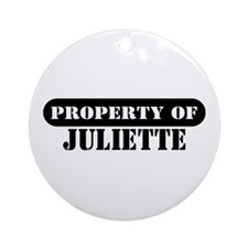 Property of Juliette Ornament (Round)