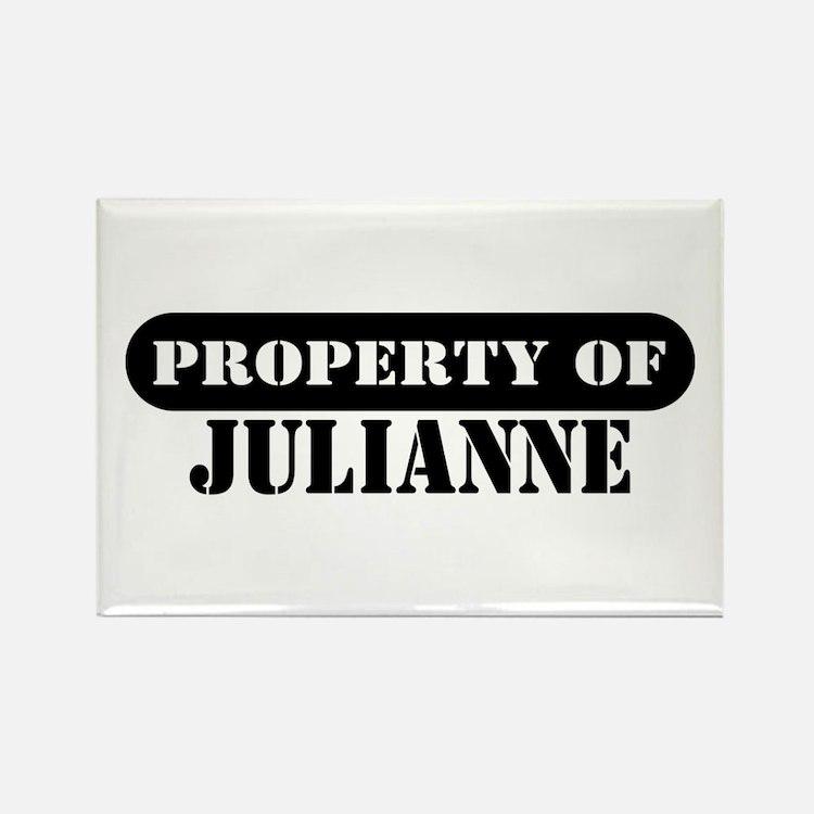 Property of Julianne Rectangle Magnet