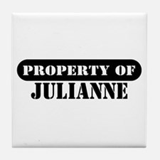 Property of Julianne Tile Coaster