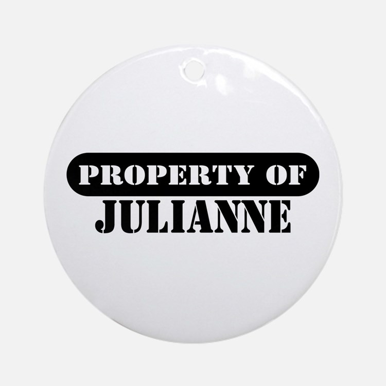 Property of Julianne Ornament (Round)