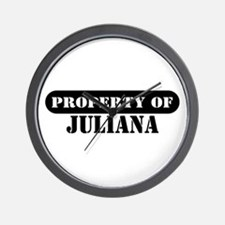 Property of Juliana Wall Clock
