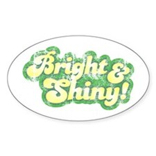 Bright and Shiny Oval Decal