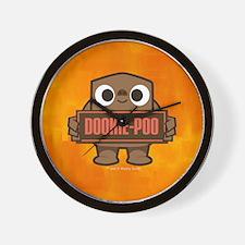 Dookie-Poo orange Wall Clock
