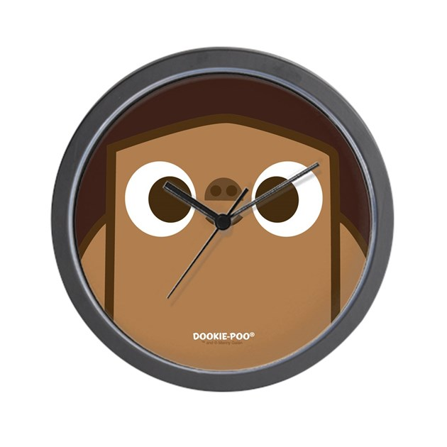 Big Face Dookie Poo Wall Clock By Dookiepoo3