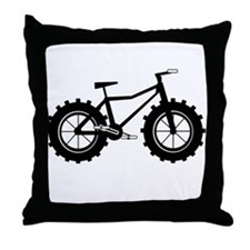 Fat Bike Throw Pillow