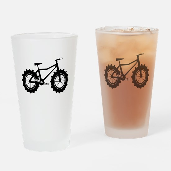 Fat Bike Drinking Glass