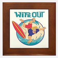 Wipe Out Surfer Framed Tile