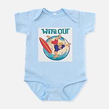 Wipe Out Surfer Infant Bodysuit