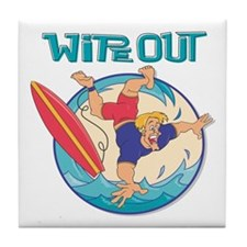Wipe Out Surfer Tile Coaster