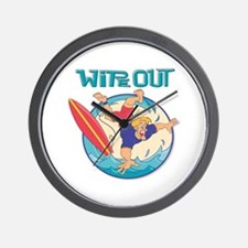 Wipe Out Surfer Wall Clock