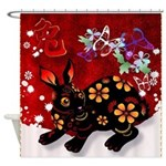 Year Of The Rabbit Shower Curtain