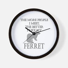 Like My Ferret Wall Clock