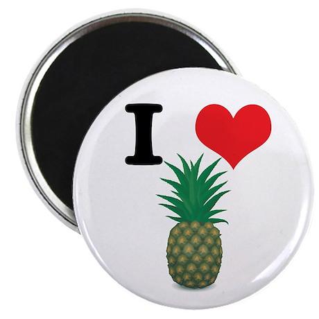 I Heart (Love) Pineapple Magnet