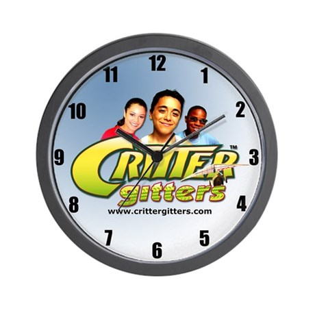 Blue Critter Gitter Wall Clock