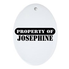 Property of Josephine Oval Ornament