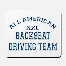 AA Back Seat Driving Team Mousepad