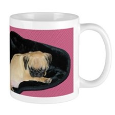 Adorable Sleeping Pug Puppy Mug