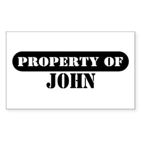 Property of John Rectangle Sticker
