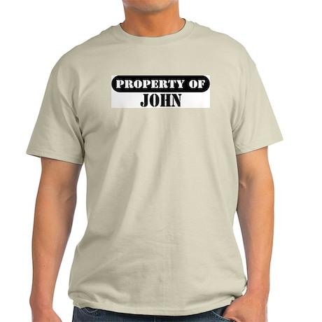 Property of John Ash Grey T-Shirt