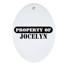 Property of Jocelyn Oval Ornament