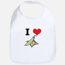I Heart (Love) Peas Bib