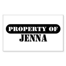 Property of Jenna Rectangle Decal