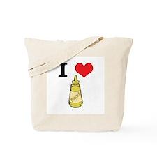 I Heart (Love) Mustard Tote Bag