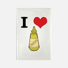 I Heart (Love) Mustard Rectangle Magnet