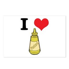 I Heart (Love) Mustard Postcards (Package of 8)