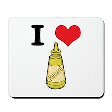 I Heart (Love) Mustard Mousepad